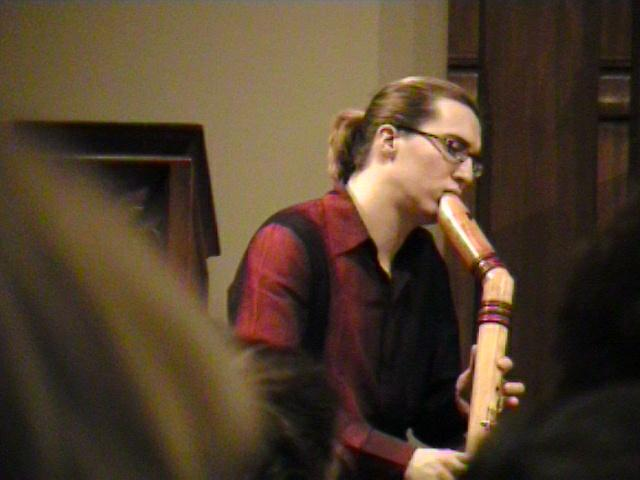 Daniel Koschitzki of the Amsterdam Loeki Stardust Quartet [Dallas Recorder Society workshop and concert with the Amsterdam Loeki Stardust Recorder Quartet - Dallas, TX, Feb. 28-29, 2004]